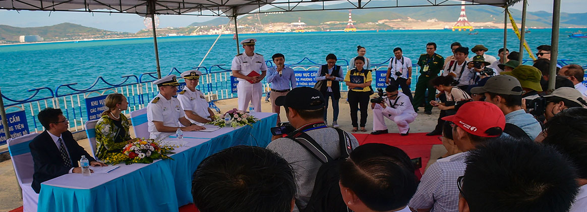 United states pacific command uspacom opening ceremony for pacific partnership 2018 kicks off in vietnam fandeluxe Choice Image