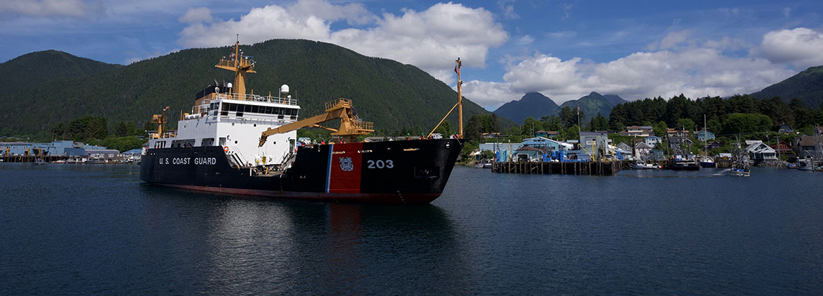 SITKA, Alaska (July 13, 2018) - The crew of the Coast Guard Cutter Kukui (WLB 203), formerly assigned to the Coast Guard Cutter Maple (WLB 207), arrives in Sitka, Alaska after circumnavigating North America. After a year-long overhaul, the cutter Kukui, previously homeported in Honolulu, Hawaii, takes the place of the cutter Maple.